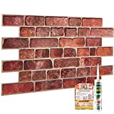 Brick Effect Wall Panels - Set of 4 Panels 1.88 m² | 20.27 ft²...