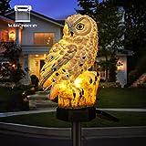 Owl Shape Light LED Solar Garden Light Owl Lawn Lamp Waterproof...