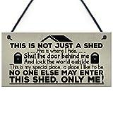 RED OCEAN Shut The Door Novelty Hanging Shed Plaque SummerHouse...