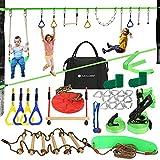 Ninja Warrior line Obstacle Course for Kids - 56 ft Slackline...