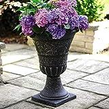 Tall Urn Planter for the Garden Stylish Classy Granite-Effect Pot...