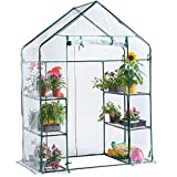 VonHaus Walk In Greenhouse – Compact Green House with 6 Shelves...