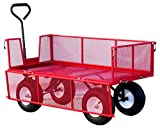 LiftMate Heavy Duty Garden Trailer with Folding Sides, Large...
