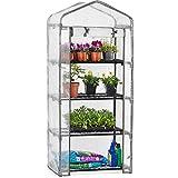 CHRISTOW Mini Greenhouse 4 Tier, Reinforced Four Shelf Growhouse,...