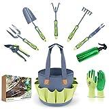 Hortem Garden Tools Set, 9PCS Gardening Tools Include Durable...