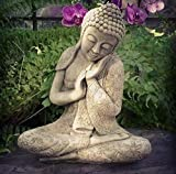 Resting Buddha Statue   Reconstituted Stone Oriental Concrete...
