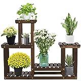 Yaheetech 4-Layer Flower Stand Garden Wooden Plant Stand Flower...