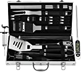 grilljoy BBQ Grill Tool Set with Gift Wrapping Box, 25pcs...