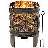 Amagabeli 58cm Outdoor Fire Pit for Garden Fire Brazier Deep...