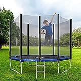 BTM Outdoor Trampoline, Kids Trampoline, Garden Trampoline with...