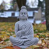 ONEFOLD - MEDITATING INDIAN BUDDHA - HAND CAST STONE GARDEN...