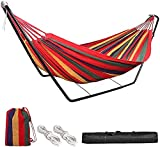 HJZ Hammock with Stand, Double 2 person Hammock with Frame Metal...