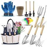 DEWINNER Gardening Tools Set - 23 Piece Heavy Duty Garden Tools...