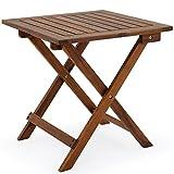 Deuba Coffee Side Table Small Wood 46x46cm Folding Square Side...