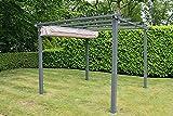 Pergola 3m x 3m Garden Shade Gazebo Weather Proof, Aluminium,...