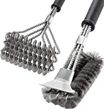 SHINESTAR BBQ Cleaning Brush Set of 2, 18'' Stainless Steel...
