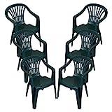 CrazyGadget Plastic Garden Low Back Chair Stackable Patio Outdoor...