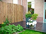 Abaseen Natural Bamboo Slat Garden Fence Covering Outdoor Privacy...
