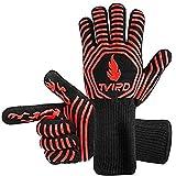 BBQ Gloves Extreme Heat Resistant, Tvird BBQ Grilling Gloves...