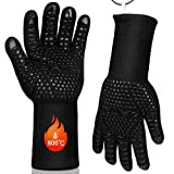 Kiaitre BBQ Gloves - Extreme Heat Resistant Grill Gloves High up...