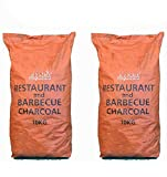 Restaurant Grade Cooking Lumpwood Charcoal 2 x 10kg, Perfect For...