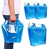 MOAMUN 3PCS Collapsible Plastic Water Container, BPA Free...