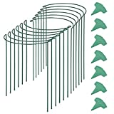 Noblik 12PCS Bow Plant Supports for Garden,Garden Stakes Metal...