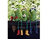 Unibos Set of 3 Outdoor Garden Ornaments Frog Sitting Toad Plant...