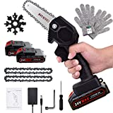Mini Chainsaw, 4-Inch Rechargeable Mini Lithium Chainsaw with 2...