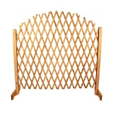 Oypla Arched Expanding Freestanding Wooden Trellis Fence Garden...