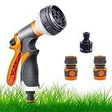 Garden Hose Pipe Spray Gun Set,8 Adjustable Patterns,High...
