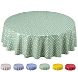 Home Direct Round Oilcloth PVC Wipe Clean Tablecloth 140cm 55'...