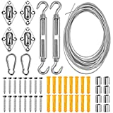 Garden Wire Cable Railing Wire Fence Roll Kits, Heavy Duty 304...