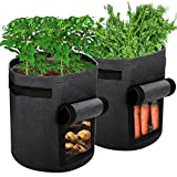 Ankier Potato Growing Bags, 2 pack 7 Gallon Vegetable Grow Bags...