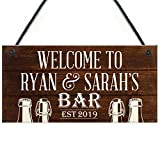 RED OCEAN PERSONALISED Bar Sign Garden Sign Shed Plaque Man Cave...