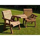 Riverco Flatpack Loveseat Angled Style – Ready to Assemble–...