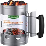 BEAU JARDIN Charcoal Chimney Starter Grill Can Barbecue BBQ...