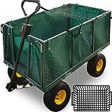 Deuba Wagon Cart Removable Tarpaulin Handcart Up To 550 kg...