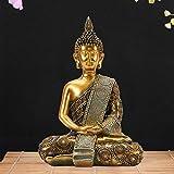 Goodeco Meditating Thai Buddha Ornament figurine,Zen Garden...