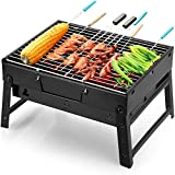 Uten Barbecue Grill Portable Folding BBQ Charcoal Grill Smoker...