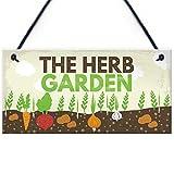 RED OCEAN Herb Garden Hanging Garden Sign SummerHouse Garden Shed...