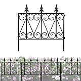 Decorative Garden Fence Rustproof Coated Metal 24in x 10ft Picket...