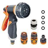 Onarway Garden Hose Spray Gun Set 8 Patterns High Pressure...