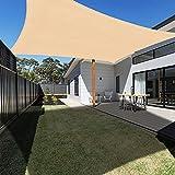 Ankuka 2 x 3m Rectangle Sun Shade Sail Outdoor Waterproof Garden...