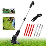 Cordless Grass Trimmer,electric strimmers with 3-blade...