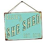 Personalised SHE SHED - Custom Name - Teal – Medium Twine |...