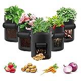 Potato Grow Bag, 5 Pack 10 Gallon Vegetable Grow Plant Bags...