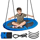 HAAGO - Large Nest Swing Seat Basket - Durable Frame with Rope...