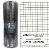 Roshield Rodent Proofing Wire Metal Mesh 6m x 300mm - Stop &...