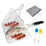E-More BBQ Grilling Basket, Portable Foldable Stainless Steel...